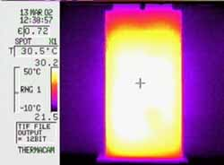 Thermal image Showing Heat Distribution